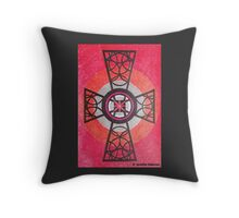 Red and Black Celtic Cross Throw Pillow