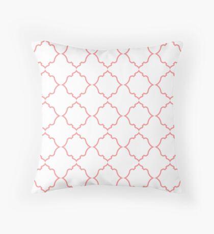 Moroccan Coral Throw Pillow