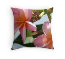 Frangipani # 3 Pink Cushion Throw Pillow