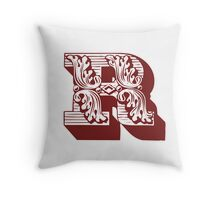 Alphabet Pillow - R Throw Pillow