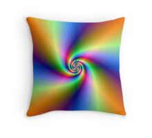 Psychedelic Four Winds Spiral Throw Pillow