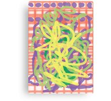 Whimfy Ribbon Canvas Print