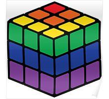 Rainbow Rubix Cube - Style 1 Poster
