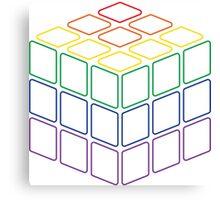 Rainbow Rubix Cube - Style 2 Canvas Print