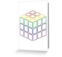 Rainbow Rubix Cube - Style 2 Greeting Card