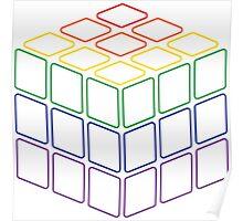 Rainbow Rubix Cube - Style 2 Poster