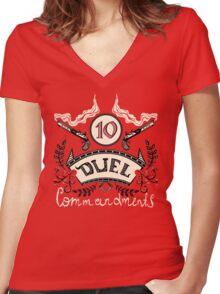 Ten Duel Commandments Women's Fitted V-Neck T-Shirt