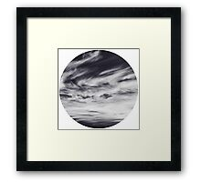 moon of sky // white Framed Print