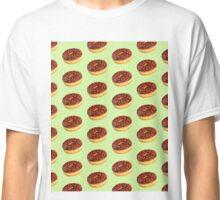 Donut Pattern Green Classic T-Shirt