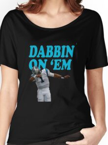 Cam Newton Dab on em Carolina Panthers Women's Relaxed Fit T-Shirt
