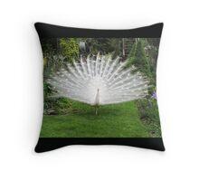 Elegant White Peacock Throw Pillow! Throw Pillow