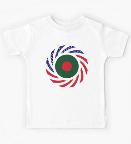 Bangladeshi American Multinational Patriot Flag Kids Tee