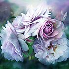 Miracle Of A Rose - Lavender by Carol  Cavalaris