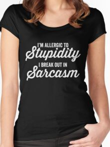 I'm allergic to stupidity Women's Fitted Scoop T-Shirt