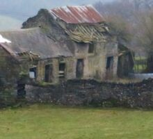 Dilapidated Cottage, Hope Valley, Eyam Sticker