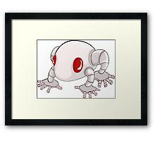 robotic frog Framed Print