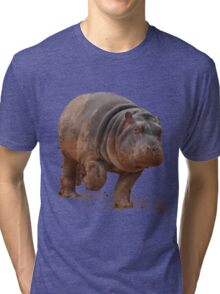 Baby Hippo on the Run: Tee Tri-blend T-Shirt