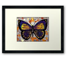 Unique Butterfly Artwork Framed Print