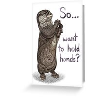 Otter Valentine Greeting Card