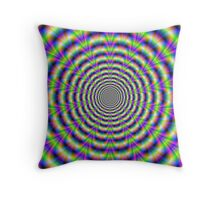 Neon Pulse Throw Pillow