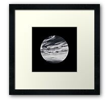moon of sky // black Framed Print