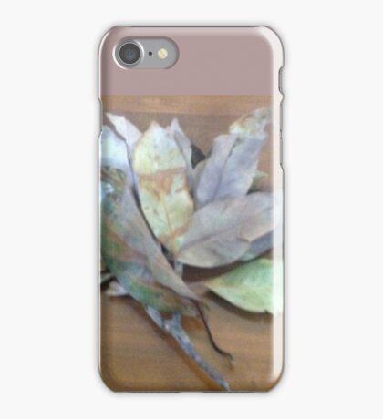 Branch of leaves wit leaf stalk iPhone Case/Skin
