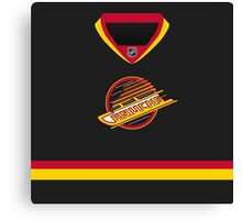 Vancouver Canucks Throwback Jersey Canvas Print