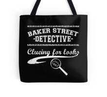 Baker Street Detective (White) Tote Bag