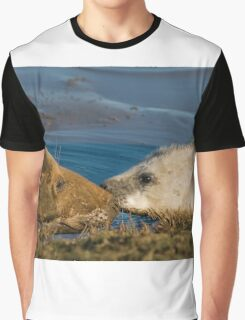 Grey Seal Cow & Pup Graphic T-Shirt