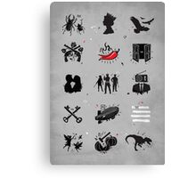 Rock N Roll Pictionary Canvas Print