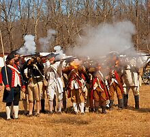 War - Revolutionary War - The musket drill by Mike  Savad