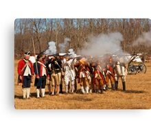 War - Revolutionary War - The musket drill Canvas Print