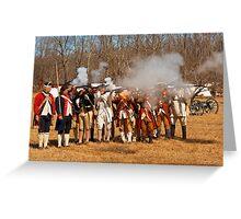 War - Revolutionary War - The musket drill Greeting Card