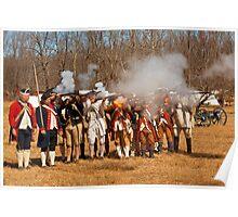 War - Revolutionary War - The musket drill Poster