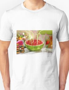 Watermelon juice, This image has a restriction for licensing in Israel  Unisex T-Shirt