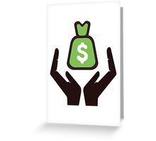 secure money concept Greeting Card