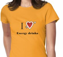 l love energy drinks heart  Womens Fitted T-Shirt