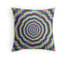 eye boggling psychedelic Throw Pillow