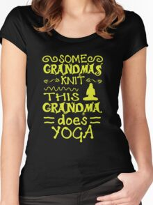 Grandma Does Yoga Women's Fitted Scoop T-Shirt