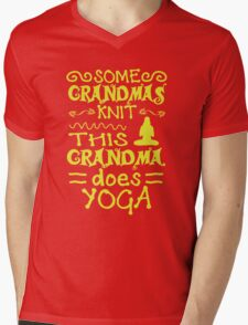 Grandma Does Yoga Mens V-Neck T-Shirt