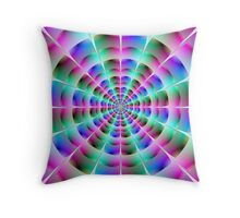 Time Tunnel in Blue and Pink Throw Pillow