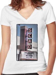 SCAD Women's Fitted V-Neck T-Shirt