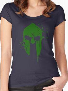 Spartan Blood - green warrior Women's Fitted Scoop T-Shirt