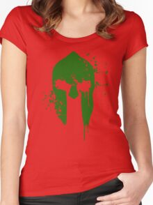 Spartan Blood - green warrior Women's Fitted Scoop T-Shirt