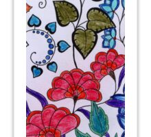 Flowers, colored  Sticker