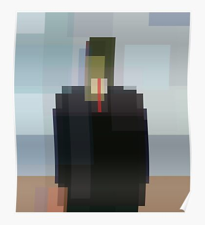 Magritte: Son of Man (computer-generated abstract version) Poster