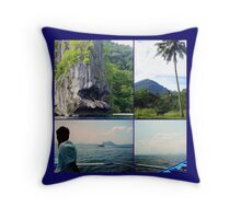 Philippines Island Hopping Throw Pillow