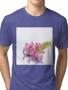 Purple And  Pink Tri-blend T-Shirt