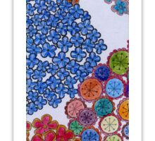 Flowers colored  Sticker
