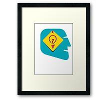 creative idea design  Framed Print